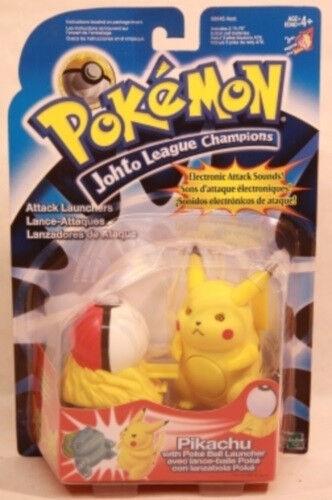 Pokemon  Johto League Champions  4  ataque lanzadores Pikachu por Hasbro (MOC)