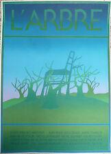 """JEAN MICHEL FOLON / RARE AFFICHE SERIGRAPHIE """" L'ARBRE"""" GALERIE MARQUET 1975"""