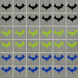 Image Is Loading Bats Stickers Waterproof Ideal For Walls Tiles Gl