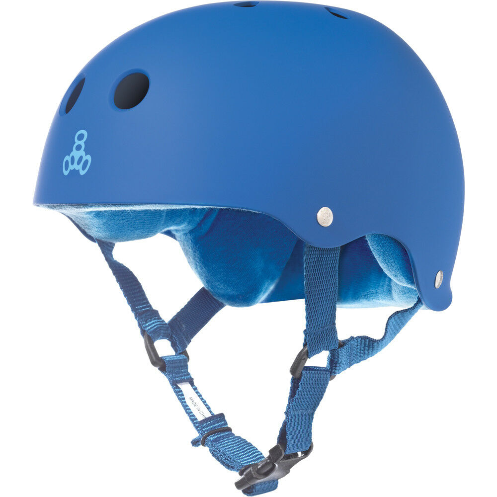 Triple 8 Royal Rubber Helmet bluee - X Small