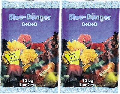 # 20kg Blaudünger 2x 10Kg,Blaukorn 8+8+8,Obst Gemüse Blau Dünger Gartendünger