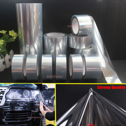 """4/"""" Wide Glossy Invisible Clear Car Paint Protective Film Vinyl Wrap Tape CF"""