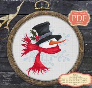 Snowman-Cartoon-Christmas-New-Year-Modern-Cross-stitch-PDF-Pattern-045