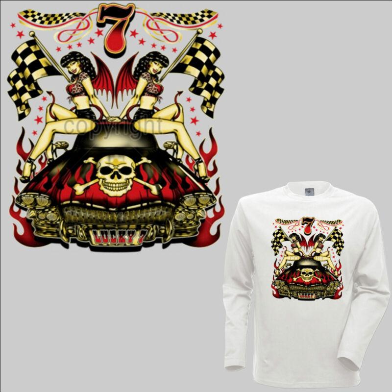 *1119 Ls Rockabilly Hot Rod Longsleeve Shirt Vintage Automotive Kustom Car Pinup