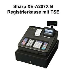 Sharp-XE-A207X-B-Registrierkasse-mit-TSE-Schwarz-Kasse-Ladenkasse-Neu