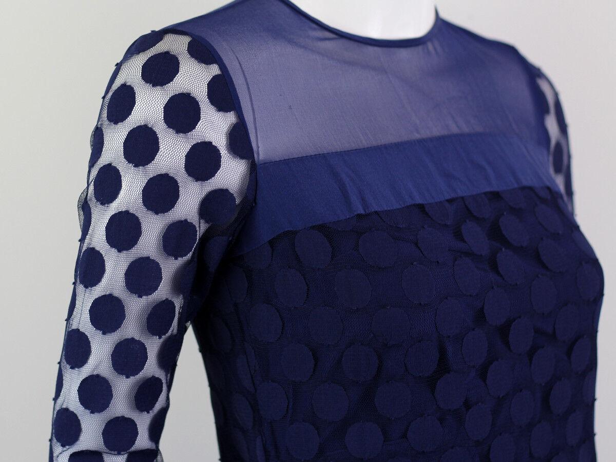 DIANA VON FURSTENBERG BLUE SILK LACE DRESS SIZE U… - image 4