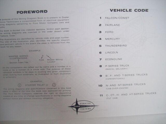 1964 Ford Econoline Wiring Diagram 11x17 Oversized 14