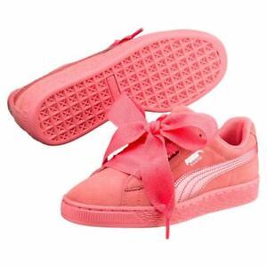 puma rosa bambina sued platform