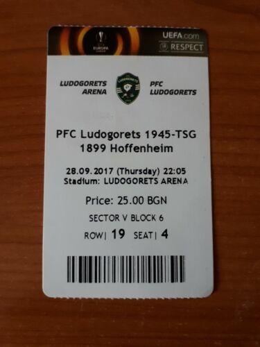 Sammler Ticket EC 17//18 Ludogorets Raszgrad Bulgaria TSG Hoffenheim
