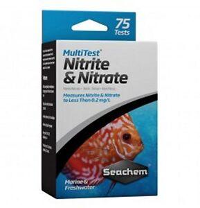 Seachem multitest Nitriti e Nitrati 75 misurazioni acquario