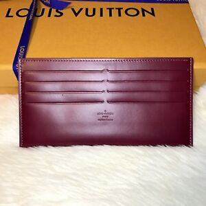 Images For Images For Louis Vuitton Made In France >> Details About Louis Vuitton Felicie Insert Credit Card Holder Magenta Made In France