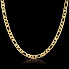 18 Karat Gold  Kette plated Edelstahl  Halskette  Panzerkette Damen Herren| NEU