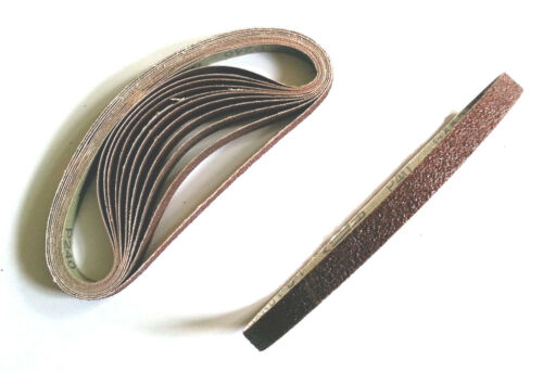 36 Bl 13 x 457 mm gemischt Bandschleifpapier Schleifband Schleifbänder Korund
