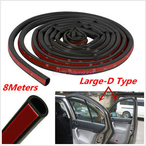 8M-Big-D-Shape-Car-Door-Window-Trim-Edge-Strip-Weatherstrip-Moulding-Rubber-Seal