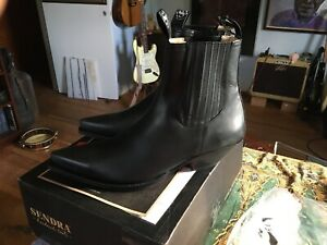 Sendra Boots Style 1692 Black Leather Western Cowboy Boots 11 1/2