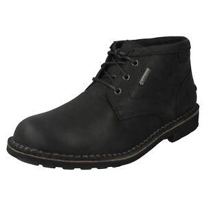 26c554ee4d680 Clarks  Lawes Mid GTX  Mens Black Waterproof Gore-Tex Laced Ankle ...