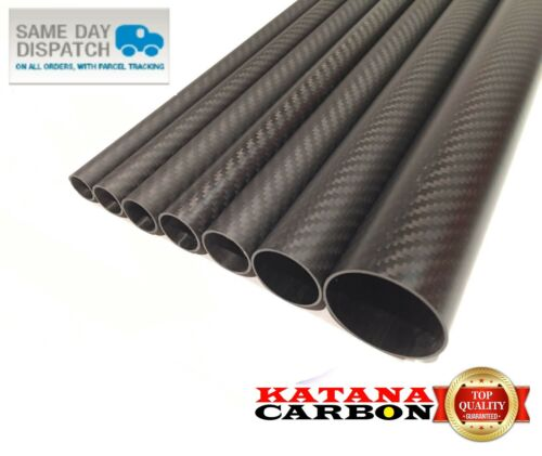 Matt 1 x OD 28mm x ID 26mm x 1500mm (1.5 m) 3k Carbon Fiber Tube (Roll Wrapped)