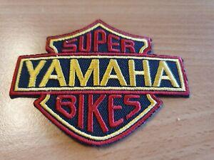 patch thermocollant brodé yamaha super bike L8,5 cm H 6,5 cm