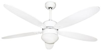 Ventilatore Soffitto Luce Telecomando Lampadario 3 Pale VelocitÀ Largo 132cm Sil