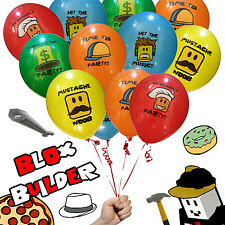 20 Blox Builder Balloons Birthday Game Truck Party Favor Roblox YouTube Fan Toy