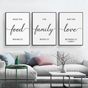 Family Quote Minimalist Artwork Prints 3 Piece Canvas Wall Art Set Unframed Ebay