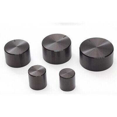 Black Aluminum Potentiometer Rotary Knob 6mm Control Switch Cap Sound Volume