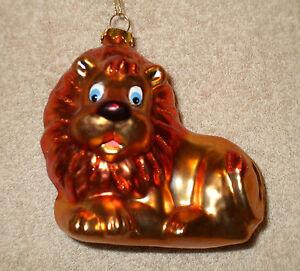 Glass LION Christmas Ornament - NEW | eBay