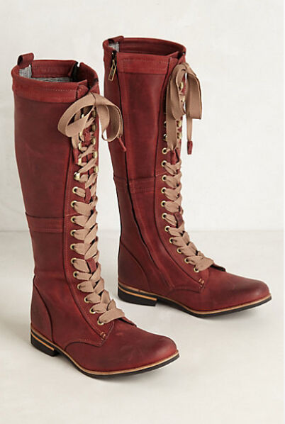 J Shoes Brand Red Leather Empire Boots