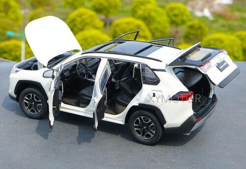 1//18 Toyota NEW RAV4 2019 Rong fang Diecast City SUV Car Model Kids gift White