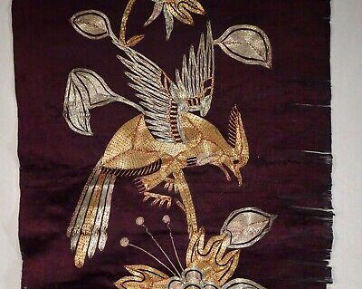 Sinnvoll Chinesisch Seide Bestickt Panel Mit Metallisch Threads - 56431 Ein Bereicherung Und Ein NäHrstoff FüR Die Leber Und Die Niere