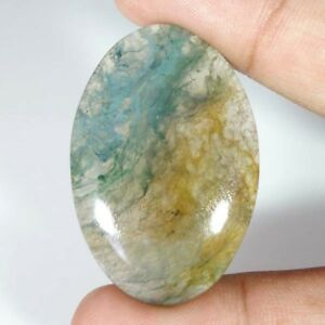100-NATURAL-Green-amp-Red-Moss-Agate-Transparent-Oval-Cabochon-Loose-Gamstone-C26