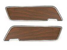 Mustang Door Panel Inserts Aluminum with Woodgrain Walnut 1969 - 1970 - Drake
