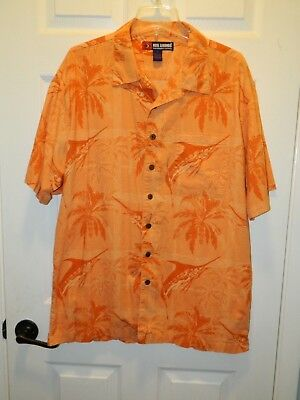 """reel Legends"" Men's Sz L Marlin Button Front Shirt In Excellent Condition Agreeable Sweetness"