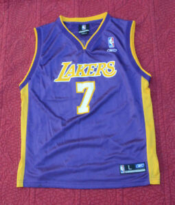 0c50e6127 Reebok NBA Los Angeles Lakers Lamar Odom  7 Jersey Size Youth L (14 ...
