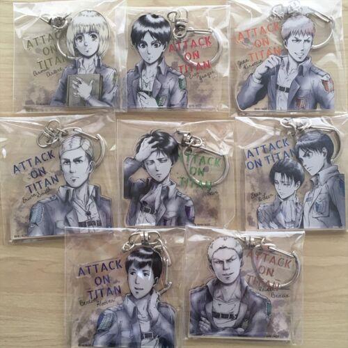 Attack on Titan Acrylic Keychain I.Gstore ltd Eren Erwin Reiner Bertolt Mikasa