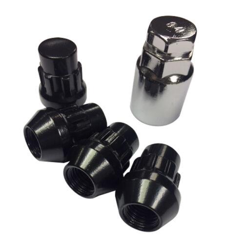 4 X Bimecc Cerrado M12 X 1.5 19//21 mm Negro Cierre Tuercas de Rueda de cabeza