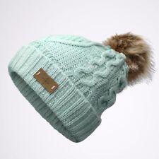 bdd4e2ab291 EP Pom pom Beanie Knit Slouchy Baggy Fleece Lined Winter Hat Ski Cap Skull  Women