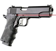 Hogue 45080 Laser Enhanced Grip 1911 Govt Model Black Rubber Grip Finger Grooves