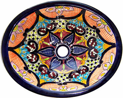 Bathroom Talavera Mexican Sink Ceramic SMALL # 130