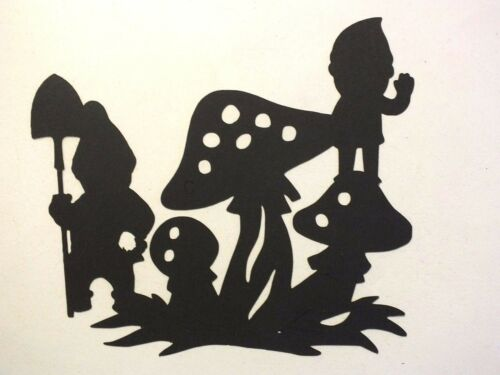 8 FANTASY GNOMES MYTHICAL DIE CUTS