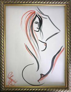 Margarita-Bonke-Malerei-PAINTING-erotica-EROTIK-FRAU-Nude-akt-nu-art-red-black-A
