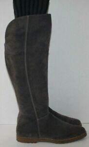 CORSO-COMO-Gray-Knee-High-034-RADAR-034-BOOT-Suede-w-Sock-Top-Sz-8-Barely-Worn