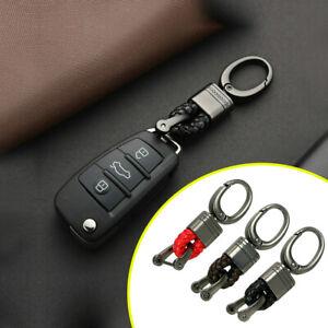 Creative-Metal-Leather-Key-Chain-Ring-Keyfob-Car-Parts-Keychain-Keyring-Gift