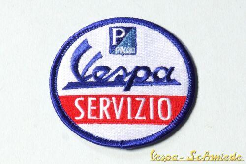 """V50 PK PX PV GT TS GL GS Sprint Rally Piaggio Patch VESPA Aufnäher /""""Servizio/"""""""