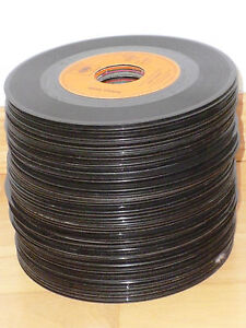 100-x-7-034-Single-Schallplatten-zur-Deko-der-Waende-Dekoration-Partykeller-Basteln