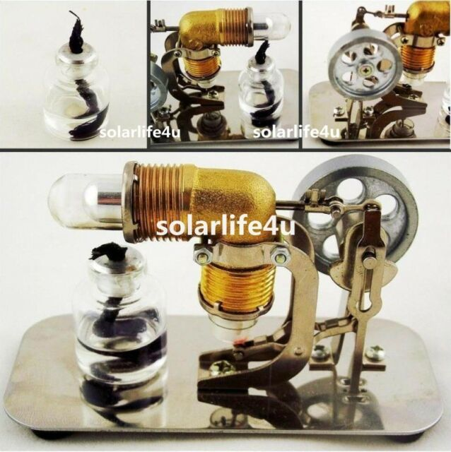 Mini Hot Air Stirling Engine Motor Model Teaching Toy Kits Electricity