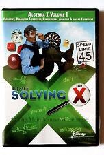 Bill Nye The Science Guy Solving For X Algebra I Volume 1 Math Educational DVD