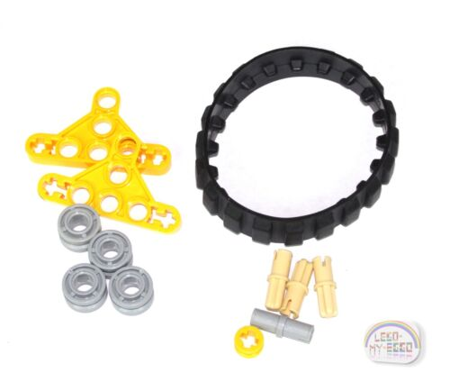 NXT,EV3,Mindstorm Yellow 2 x Mini Tank Tread Assembly New - LEGO Technic