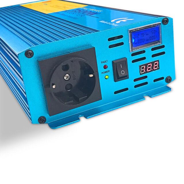 Reiner Sinus Spannungswandler Inverter 12V 230V 1500 3000 Watt Wechselrichter
