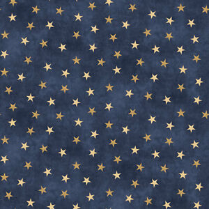 Sugartree 12 X12 2 Sheets Of Scrapbooking Paper Blue And Gold Stars 871887021347 Ebay
